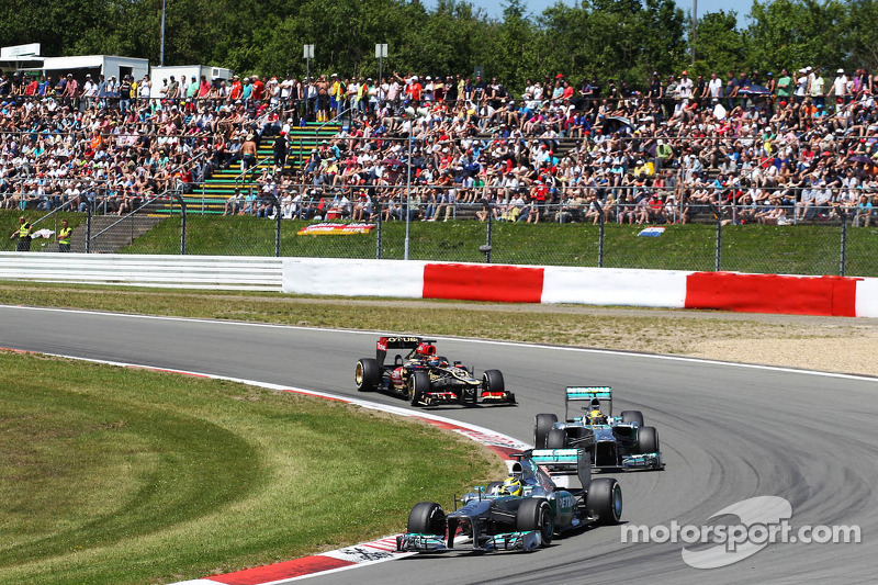 Hamilton and Rosberg finished the German GP in fifth and ninth places