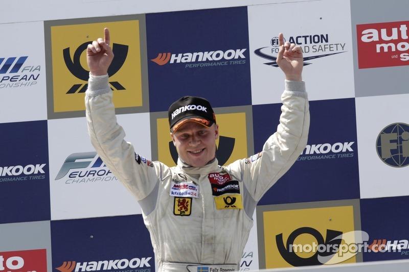 Felix Rosenqvist keeps cool to win again in Nuremberg