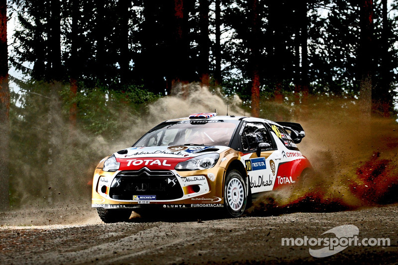 Finland Day 2: Citroen drivers give it their all