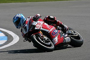 World Superbike Qualifying report Front row start for Checa and Team SBK Ducati Alstare in tomorrow's races at Silverstone