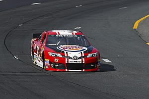 NASCAR Sprint Cup Race report Reutimann's race slowed by mechanical failure following contact in Pocono