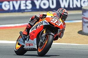 MotoGP Practice report Marquez leads the way on day one at Indianapolis