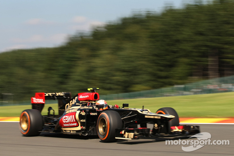 Lotus' Grosjean set the 3rd fastest time on the opening day of the Belgian GP weekend