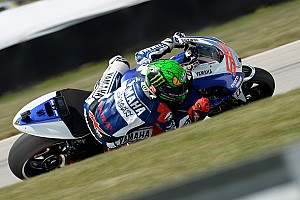 MotoGP Qualifying report Challenging Brno qualifying for Lorenzo and Rossi