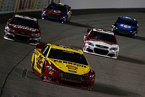 NASCAR Sprint Cup Race report Logano secures first career spot in Chase after a battle at Richmond