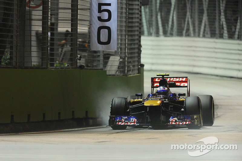 A very disappointing evening for Toro Rosso in Singapore