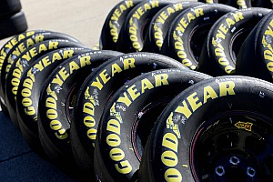 NASCAR Sprint Cup Breaking news Kansas presents new challenge to Goodyear's dual-tread technology