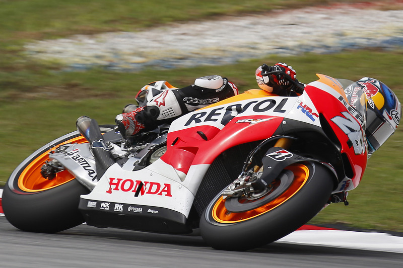 Bridgstone: Pedrosa close to record pace on opening day in Malaysia
