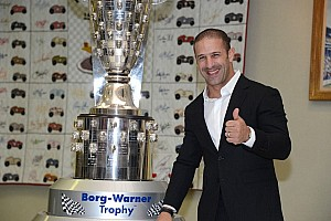 IndyCar Breaking news Indy 500 winner Kanaan cherishes likeness on Borg-Warner trophy