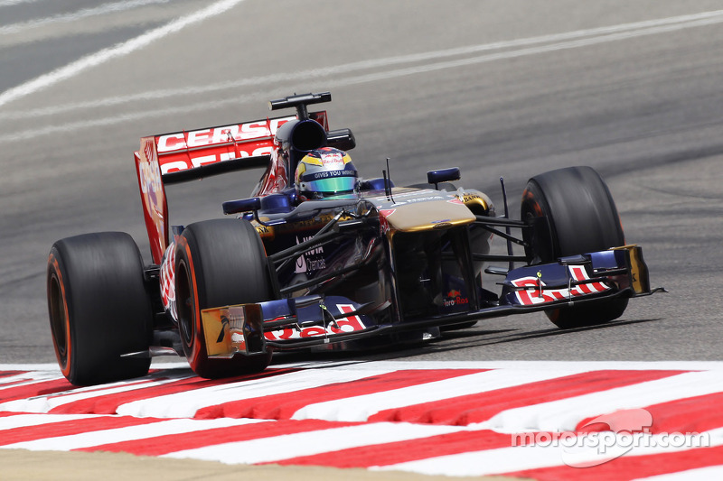 Toro Rosso in Bahrain tyre test