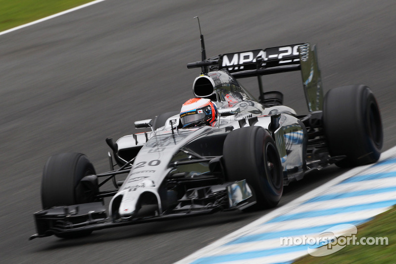 McLaren Magnussen got his first full day at Jerez
