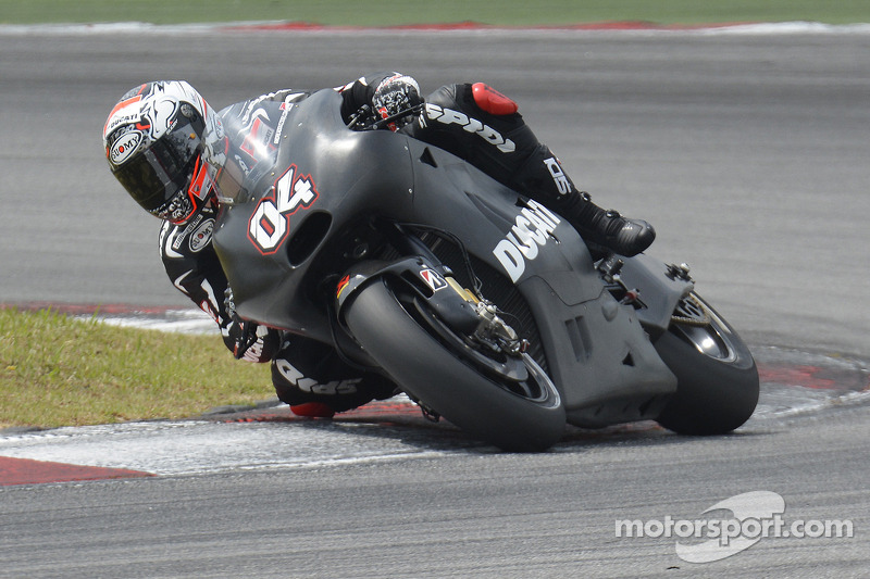 Positive conclusion for Ducati Team in second IRTA test at Sepang