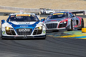 Six Audi R8 LMS ultra cars in Pirelli World Challenge