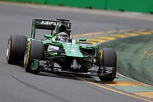 Caterham F1 drivers after qualifying in Australian GP