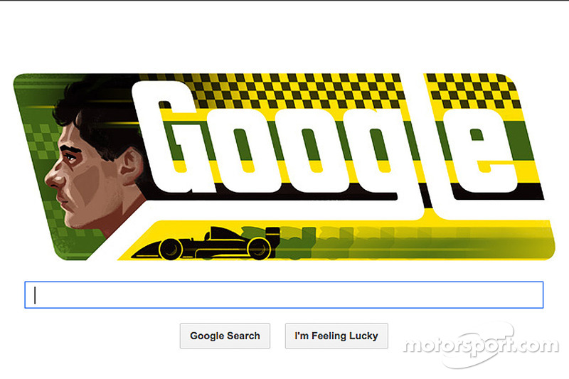 The late Ayrton Senna honored on his birthday with Google Doodle