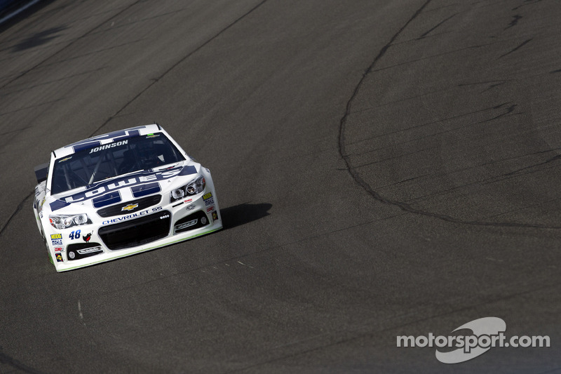 California native Jimmie Johnson leads Team Chevy in qualifying at Auto Club Speedway