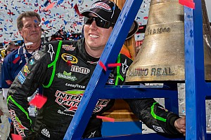 Kyle Busch holds off Kyle Larson for the win