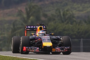 A good sign Red Bull Racing drivers after Friday's practice at Sepang
