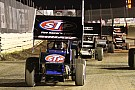 Donny Schatz battles Sammy Swindell for win at Lawrenceburg Speedway