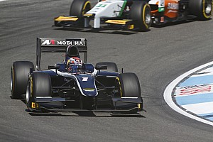GP2 Race report Evans hangs on to win dramatic 200th feature race at Hockenheim