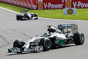 Formula 1 Race report Mercedes' Rosberg took second place in today's Belgian GP