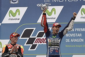 Movistar Yamaha magic continues as Lorenzo masters Aragon