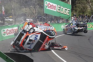 V8 Supercars Breaking news Luff and Lowndes go airborne in wild practice crash