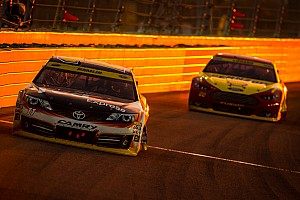Hamlin unable to stop a charging Harvick in season finale
