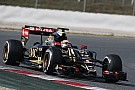 Lotus ends the final day of pre-season testing at Barcelona early