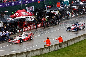 IndyCar Qualifying report IndyCar qualifying suspended due to rain, Montoya on pole