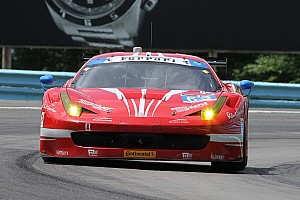 Ferraris splash through challenging conditions in Watkins Glen