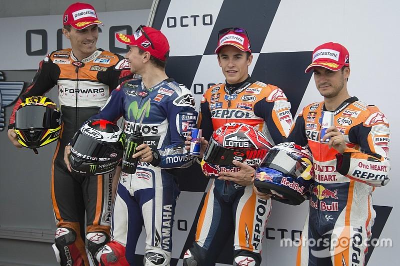 Márquez vence a Lorenzo por la pole y Rossi queda cuarto