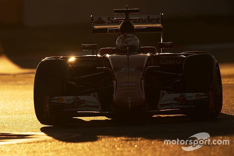 Sebastian Vettel rijdt eerste Formule 1-meters van 2016