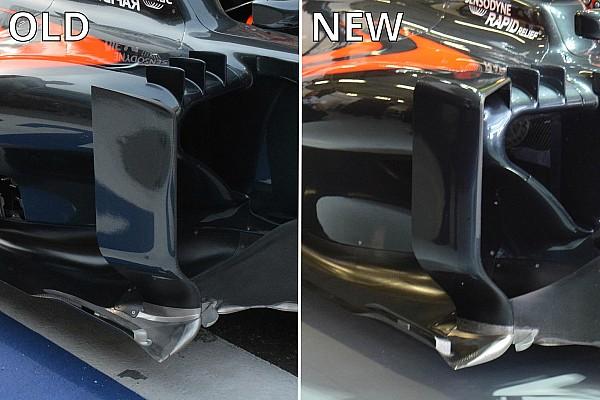 McLaren:  sulla MP4-31 anche il deviatore di flusso a ponte