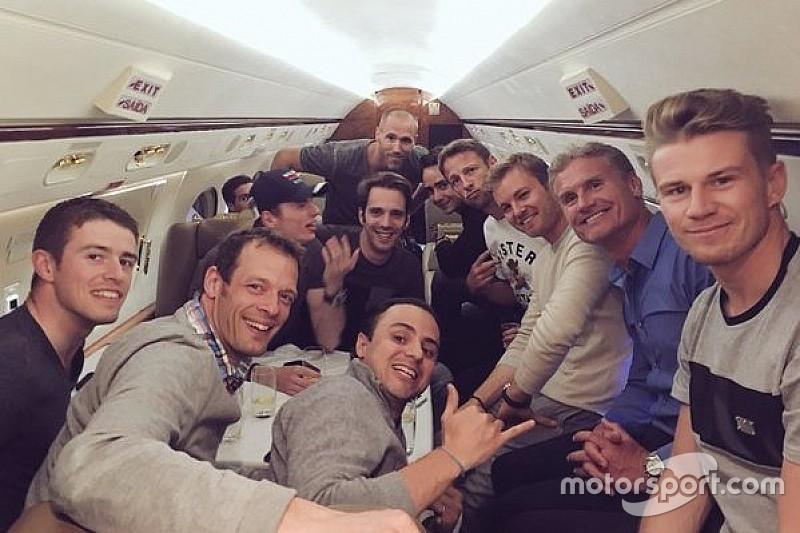 Massa e Rosberg 'trocam likes' em voo após GP da Rússia