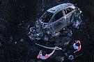 WRC Após caírem de encosta, carros pegam fogo em Portugal