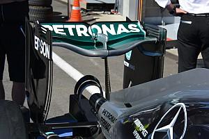 Technique - L'aileron arrière en forme de cuillère de Mercedes