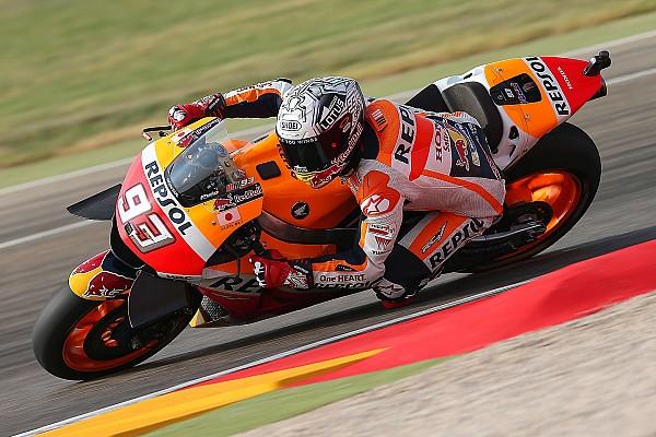 MotoGP Antrenman raporu MotoGP Aragon: Marquez ısınma turunda lider, Lorenzo kaza geçirdi