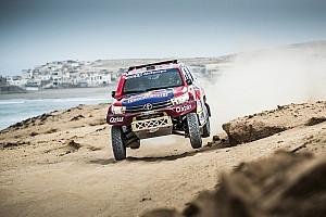 Cross-Country Rally Reporte de la carrera Al-Attiyah gana en Marruecos por delante de Sainz; Price triunfa en motos