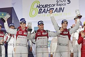WEC Важливі новини Гонщики Audi ледь стримували емоції після перемоги в Бахрейні