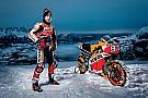 GALERÍA: Márquez y su Honda en la nieve