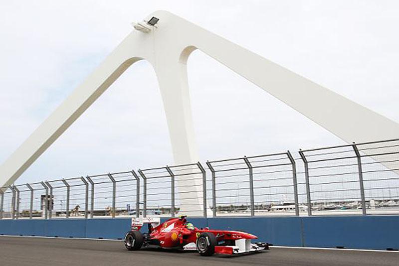 Felipe Massa ficou em quinto lugar nos treinos de hoje