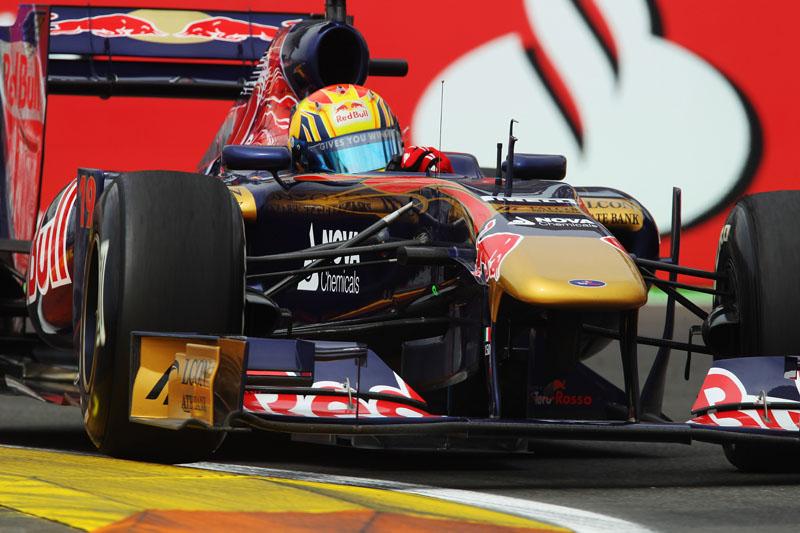 Ver Alguersuari na pista foi cena rara nesta sexta-feira