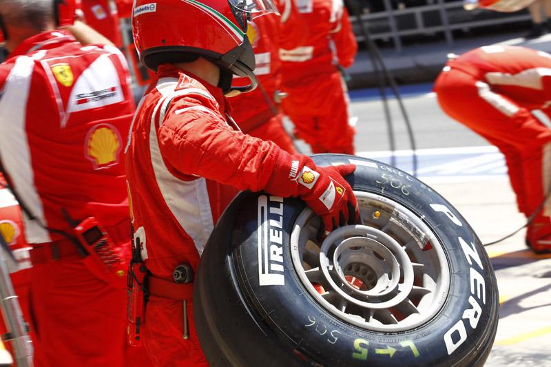 A Ferrari sofreu com os compostos médios em Valência