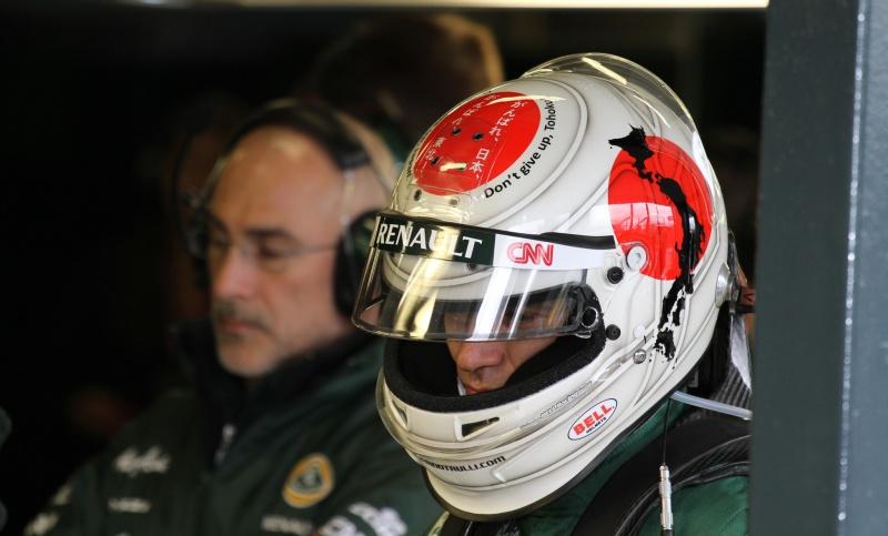 Trulli e o capacete em homenagem ao Japão