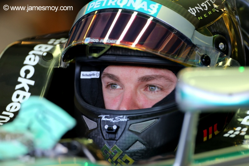 Nico Rosberg superou os problemas da manhã para garantir a segunda posição
