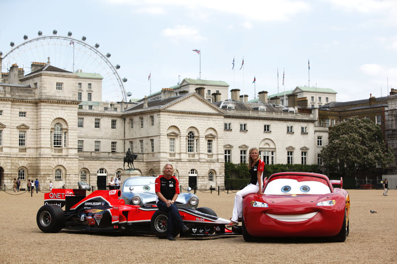 Richard Bronson e os carros da Virgin e do filme