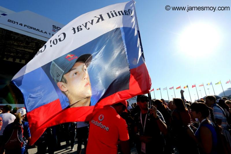 Kvyat corre em casa na Rússia e conta com o apoio dos fãs
