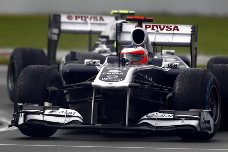 Rubens Barrichello na chuva