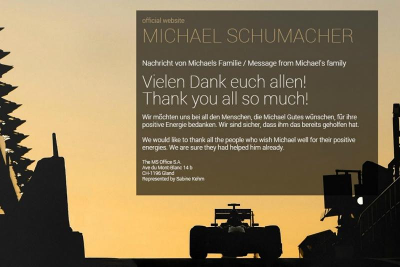 Site oficial de Schumacher será reativado nesta quinta-feira